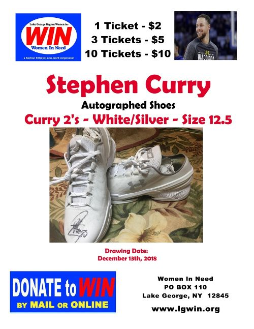 Stephen Curry Autographed Shoes Raffle - Get Tickets Here!