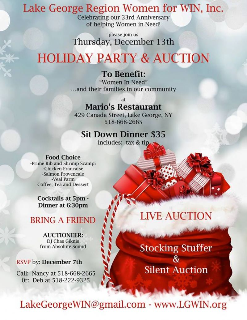 2018 Holiday Party & Auction